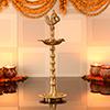 Rudrakshi Brass Diya