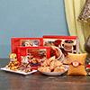 Sai Baba Gold Rakhi With Sugarfree Sweets & Tea Snax