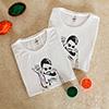 Salt Bae Personalized Holi Tshirts (set of 2) with Gulal