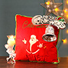 Santa Pillow with Bells & Candle
