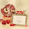 Scented Potpourri with Heart Shaped Candle Votives & Photo Frame