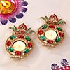 Set of 2 Beautiful Premium Stone Diya
