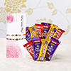 Set of 2 Rakhis With 10 Assorted Chocolates
