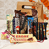 Set Of 2 Rakhis with Assorted Chocolates in a Goodie Bag