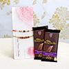 Set of 2 Stunning Rakhis & 2 Bars Of Cadbury Bournville
