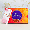 Set of 2 Stunning Rakhis with Cadbury Celebrations Chocolate Box