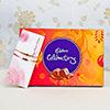 Set of 2 Stunning Rakhis with Cadbury Celebrations Chocolate Box