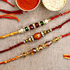 Set of 3 Beaded Rakhi