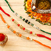 Set of 3 Colorful Beads Rakhi