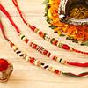 Set of 3 Multicolored Beads Rakhi