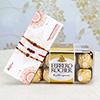 Set of 3 Rakhis With 16 Pcs Ferrero Rocher Box