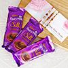 Set of 3 Rakhis with 3 Dairy Milk Silk Chocolates