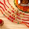 Set of 5 Beautiful Beads Rakhi