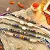 Set of 5 Precious Stone Rakhi