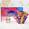 Set of 5 Rakhis With 10 Assorted Chocolates & Cadbury Celebrations