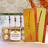 Set of 5 Rakhis with Pack of Ferrero Rocher