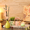Set of Ceramic Pots with Candle Holder & Diffuser