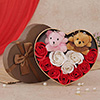 Set of Teddy with Rose Petal Soap