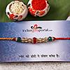 Shimmering Crystal Beads and Stones Rakhi