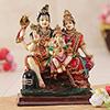 Shiv Parivar Resin Statue Idol Showpiece