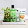 Shower Gel & Face Wash with Scrub & Bamboo Plant Hamper in a Tray