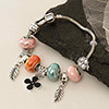 Silver and Multicolored Beads Bracelet