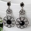 Silver-Black Oxidised Danglers