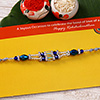 Silver Blue Crystal Beaded Rakhi