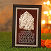 Silver Ganesha Frame with Aarti