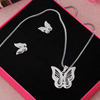 Silver Plated Butterfly Pendant Set