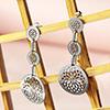 Silver Plated Jaali Work Dangling Earrings