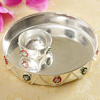 Silver Plated Puja Thali & Katori Set