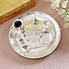 Silver Plated Puja Thali With Accessories