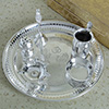 Silver Puja Thali With Accessories