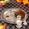 Silver Thali, Laxmi-Ganesh with Sweets