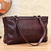Simple Brown Bag Made from Pure Leather for Women
