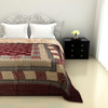 Smooth and Silky quilt in Maroon