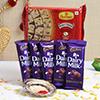 Soan Papdi 500 Gms With Roli Chawal & Cadbury Dairy Milk Chocolate