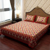 Soft Cotton Bed Cover with Traditional Print