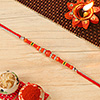 Sophisticated Rakhi in Beads Work With Roli-Chawal Kit
