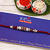 Sparkling Red Stone Rakhi Thread