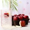 Square Basket of Apples with Greeting Card For Father