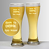 Start Drinking Personalized Beer Glass Set of Two