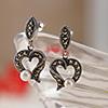 Sterling Silver Heart-Shaped Earrings
