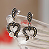 Sterling Silver Heart-Shaped Earrings
