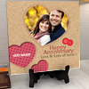 Stitches and Buttons Personalized Anniversary Tile
