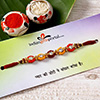 Stone Studded Colorful Thread Rakhi