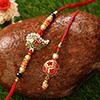 Stunning Bead Work Bhaiya Bhabhi Rakhi
