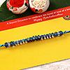 Stunning Blue Stone Thread Rakhi
