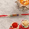 Stunning Colorful Stone Studded Rakhi